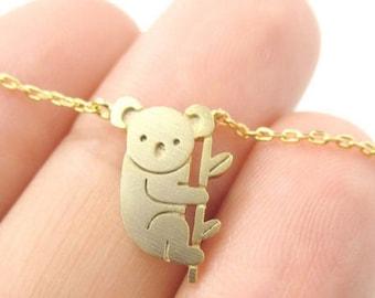 Koala Necklace, Everyday Jewelry, Dainty Jewelry, Simple and Elegant, Minimalist Jewelry