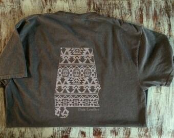 Alabama Navajo Print Pocket TShirt