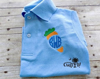 Boys Easter Polo, Toddlers Easter Monogrammed Polo, Boys Easter Shirt,Toddlers Easter Polo shirt, Monogrammed, Personalized, Embroidered