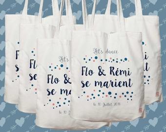 Lot de 10 sacs , à personnaliser pour mariage, sac de toile cabas, sac demoiselle d'honneur, mariés, cadeau personnalisé, sac cabas, témoin