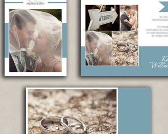 Wedding Magazine Template for photographers, 24 page design, PSD Files, digital template, magazine marketing set, welcome pack for clients