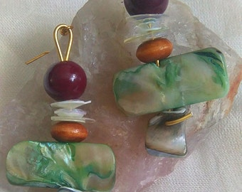 Abalone Layer Earrings