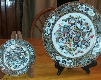 Qing dynasty plates in 1000 butterflies design