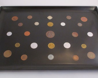 Vintage Couroc Of Monterey Inlaid Coin Tray From The 1950's #286