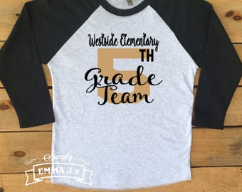 Custom shirt, Teacher shirt, teacher team shirt,  2nd grade, 1st grade, 3rd grade, teacher gift, teacher, back to school, baseball