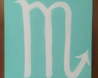 Scorpio Symbol on Canvas
