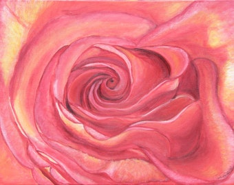 Coral Rose - Giclee Print On Gallery Wrap Canvas