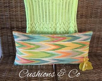 Multi-Coloured Rectangular Cushion-      59 x 28 cm - Free Shipping