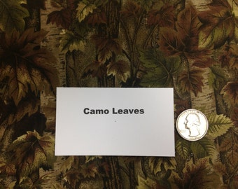 Camouflage Leaves Fabric - 2 Yards