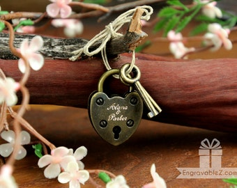Engraved Mini Love Lock