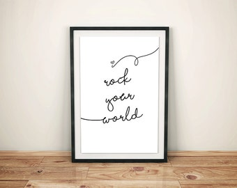 I Rock Your World A3 poster (printable)