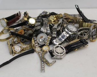 4 lb Lot Of Watches, Watchbands, Watch Parts - For Jewelry Making, Watch Repair, Art Supplies & Crafts