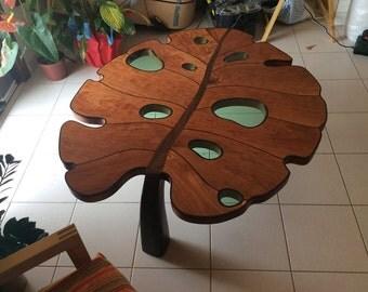 Coffee Table Leaf Shape