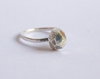 Precious stone, Silver ring for woman