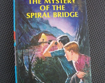 Vintage 1966 Edition The Hardy Boys - The Mystery of the Spiral Bridge (Number 45)  by F.W.Dixon - Hard Cover