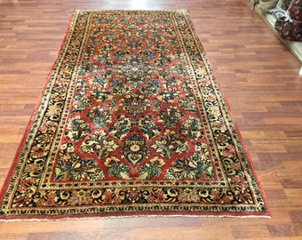 Antique Persian Sarouk Rug. 4355
