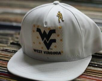 Vintage 1990's West Virginia Mountaineers Snapback