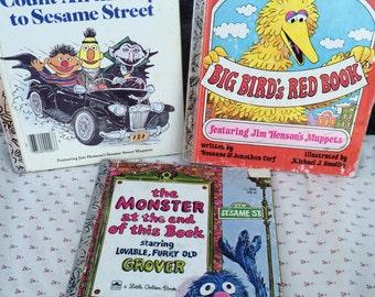 1970s and 1980s Sesame Street Little Golden Books, Little Golden books lot, Sesame Street books