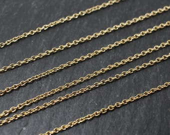N0009/Anti-Tarnished Gold Plating Over Brass/225S/1.1x 1.5mm/1yard