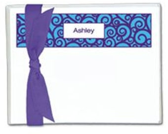 Flat note cards, personalized