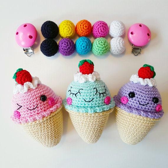 Mini Ice Cream Amigurumi : Ice Cream Stroller Mobile PATTERN PDF, crochet amigurumi ...