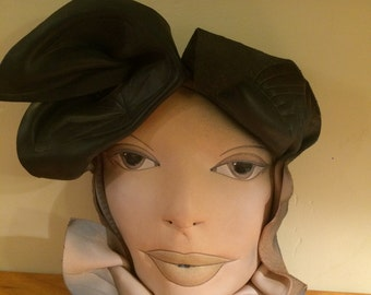 80's Sculpted Leather Woman's Face Mask -Wall Art