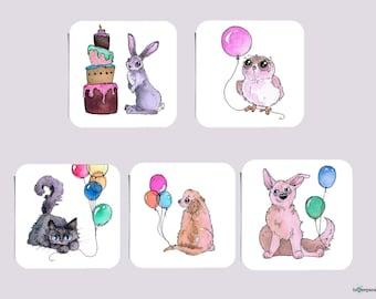 Mini Fun-Sized Birthday Cards, Assorted