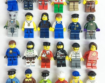 10 Pack of LEGO Minifigures - Great for LEGO Party Favors and Stocking stuffers