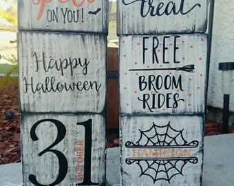 Halloween Wood Block Set of 3
