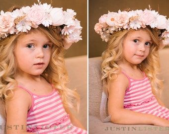 Paper flower crown custom made to order in your colors