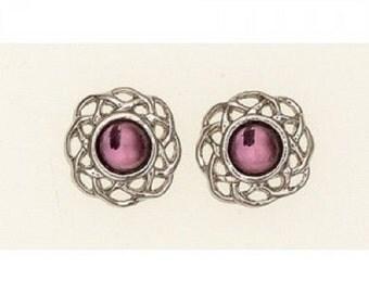 February (Amethyst) Earrings