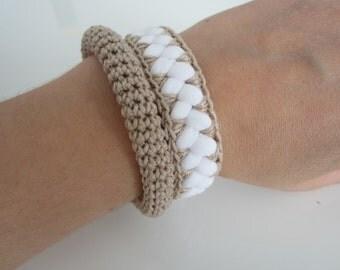 Crochet bracelet, crochet jewelry, women's crochet jewelry, women's jewelry, women's gift, moderne bracelets, women wmas gift, bracelets