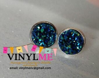 Beautiful Druzy Stud Earrings