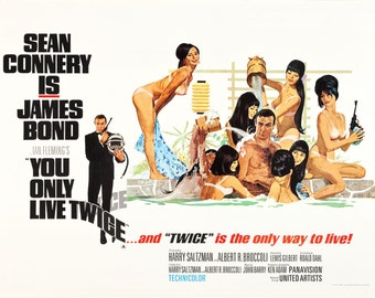 You Only Live Twice Movie POSTER (1967) Fantasy/Action