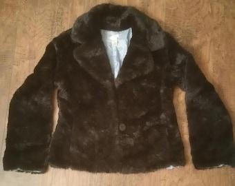 Vintage Coat - Vintage Jacket - BoHo Coat - Boho Jacket - Vintage Fur Coat - Vintage Fur Jacket - Bohemian Coat - Black Fur Coat - Small Fur