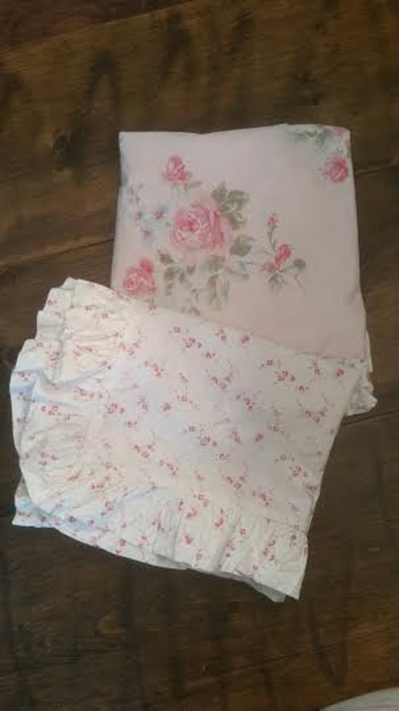 Pink Shabby Chic Rose King Size Pillow Shams King size