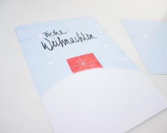 """Postcard """"Merry Christmas"""" gift"""