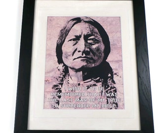 Sitting Bull Quote Canvas Art Print In Picture Frame