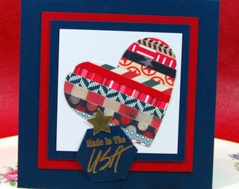 Made in the USA, Patriotic, Military, Olympics, Red, White and Blue! (#72)