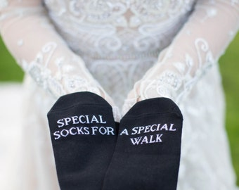 Special socks for a special walk, wedding, grooms socks, cold feet socks wedding gift idea