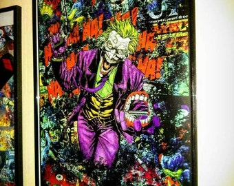 The Joker - Premium DC Graphic Print by StarkeMatter - Superhero Comic Book Mixed Media Wall Art Decor