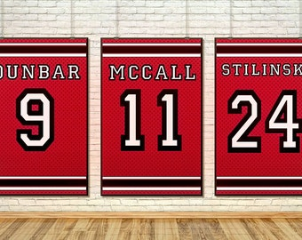 Teen Wolf Lacrosse Banners- Wall Art Home Decor Art Print Poster Set