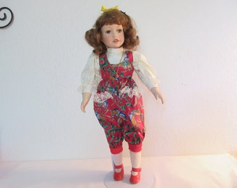 "Vintage Adorable 19"" Porcelain Doll - Abby"