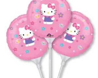 Hello Kitty Balloons, Hello Kitty Air Filled Balloons, Birthday Party, Hello Kitty Theme, Party Favor, Hello Kitty Favor, Hello Kitty, 3