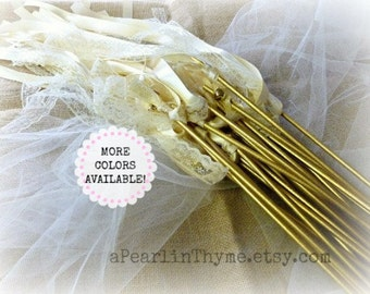 Wedding Wands of The Century!! What an Elegant way to Celebrate the Newlyweds!! You CHOOSE Quantity...More Ribbon COLORS Available!!!