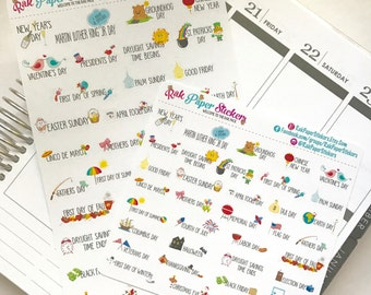 Holiday Trackers! - set of 36 stickers for your Erin Condren, Inkwell Press, Happy Planner or other calendar or planner!