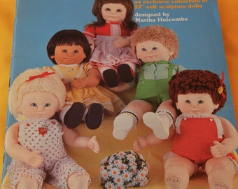 "Soft Sculptured Dolls ""Another Ray of Sonshine"" Patterns - 22"" Dolls - Miss Martha Originals"