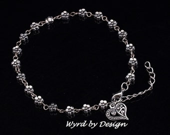 Silver Charm Anklet