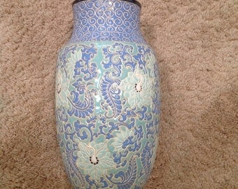 1 Wonderful Art Deco Vase in the manner of Longwy