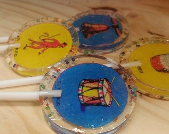 15 Mexican Loteria Edible Image Lollipops